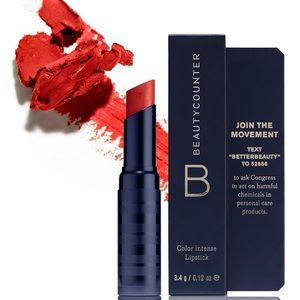 Beautycounter Color Intense Lipstick Red.